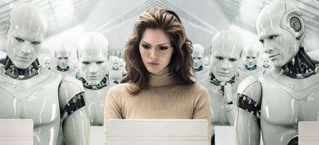 Dame roboter toppbanner
