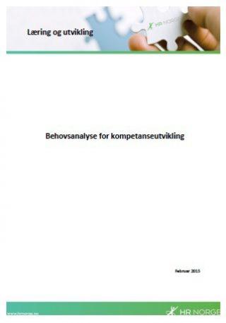 Temaark Behovsanalyse for kompetanseutvikling