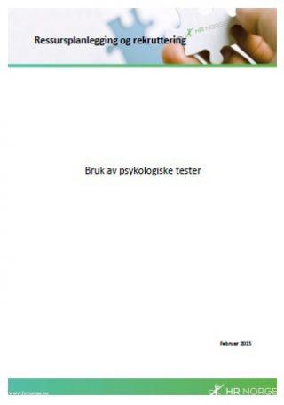 Temaark bruk av psykologiske tester