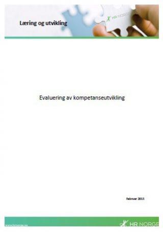 Temaark evaluering av kompetanseutvikling