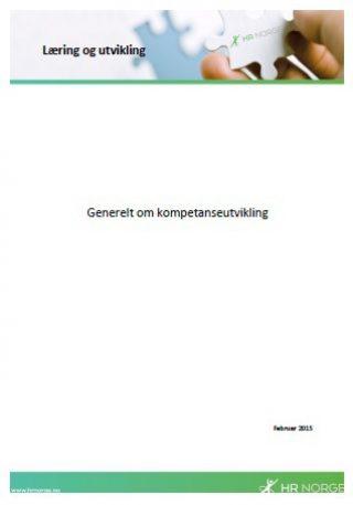 Temaark generelt om kompetanseutvikling