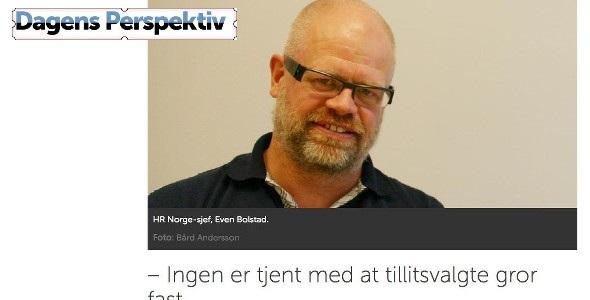 20160907 Dagens Perspektiv Ingen er tjent med at tillitsvalgte gror fast thumb