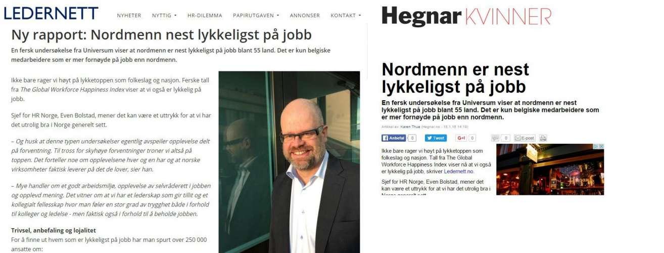 2016 01 13 Ledernett no Ny rapport Nordmenn nest lykkeligst p jobb toppbanner