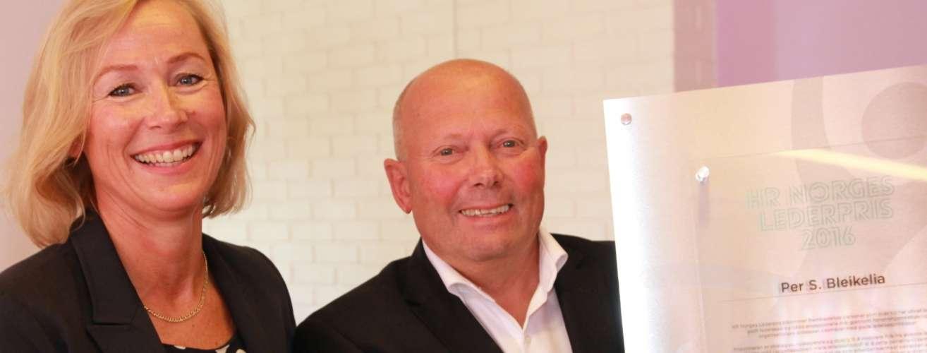 20160829 HR Norges Lederpris Trude S Huseboe Per Bleikelia oppslag