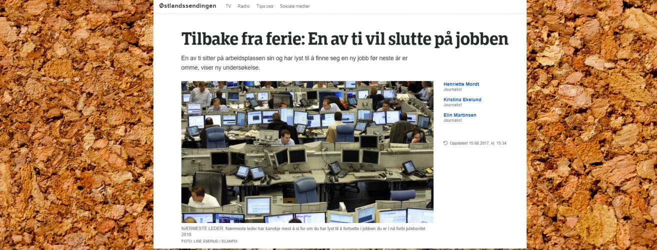 2017 08 15 NRK GE Lx En av ti vil slutte oppslag