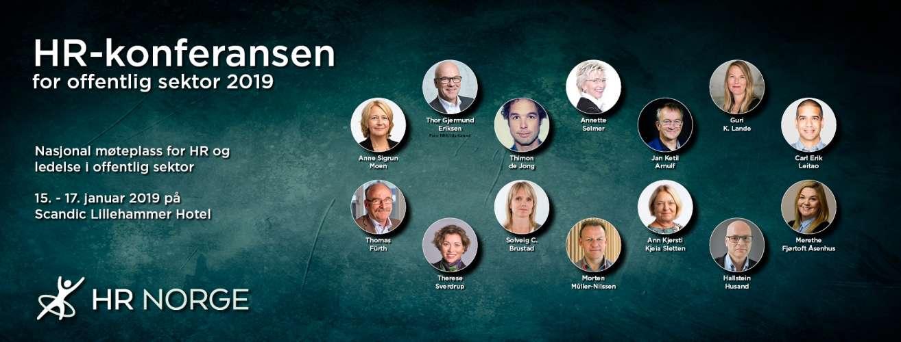 HR konferansen for offentlig sektor 2019 Landingssiden