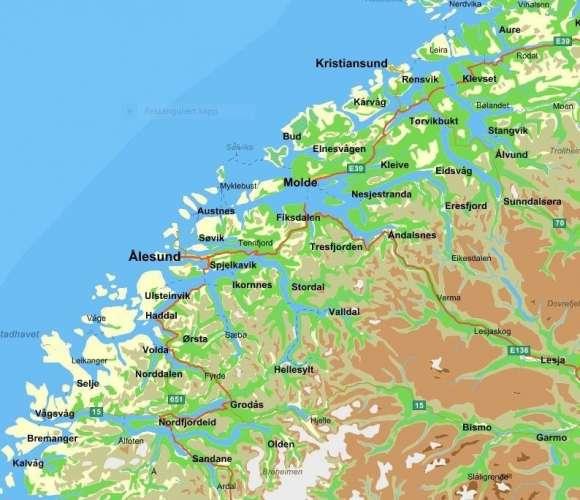 Kart nordvest