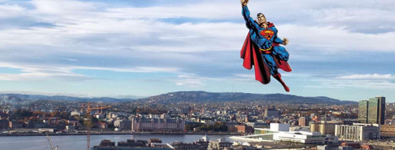 Supermann over oslo toppbanner