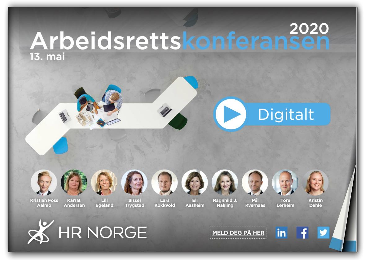 Forside program Arbiedsrettskonferansen 2020 - Digital