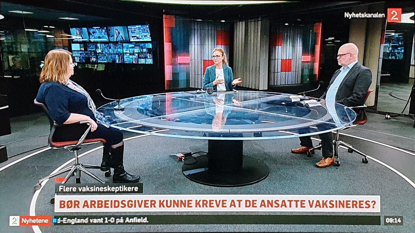 Even Bolstad og Kari Andersen på TV2 nyhetskanalen